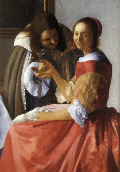 Vermeer A Lady and Two Gentlemen detail1